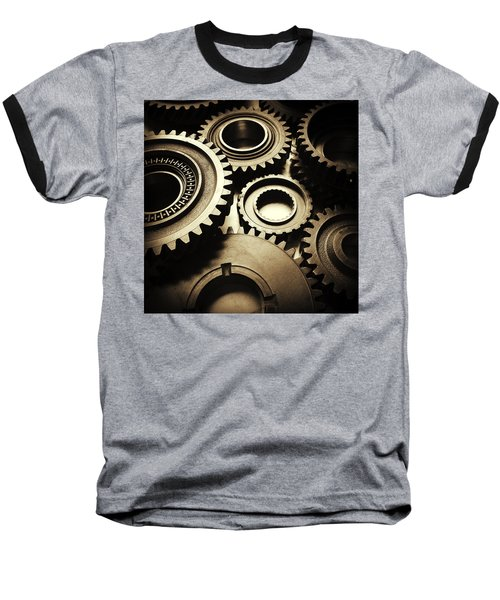 Cogs Baseball T-Shirt by Les Cunliffe