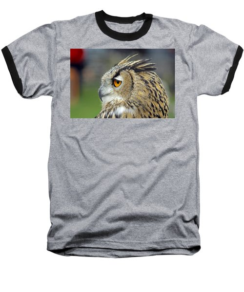 European Eagle Owl Baseball T-Shirt