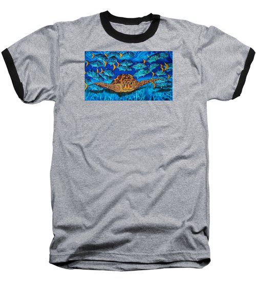 Green Sea Turtle Baseball T-Shirt
