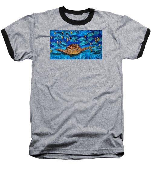 Green Sea Turtle Baseball T-Shirt