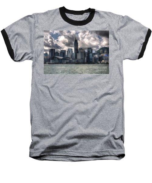 Baseball T-Shirt featuring the photograph Hong Kong Harbour by Joe  Ng