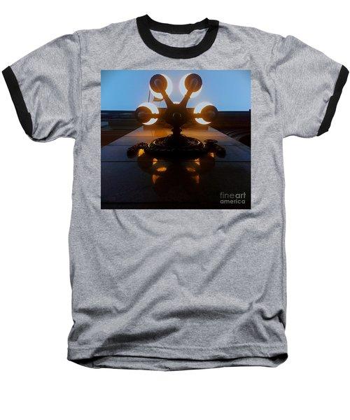 Baseball T-Shirt featuring the photograph 5 Points Of Light by James Aiken