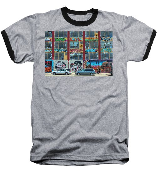 5 Pointz Graffiti Art 10 Baseball T-Shirt