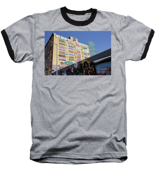5 Pointz Graffiti Art 2 Baseball T-Shirt by Allen Beatty