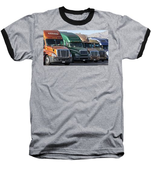 Semi Truck Fleet Baseball T-Shirt