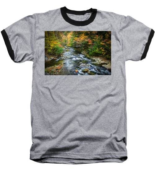 Stream Great Smoky Mountains Painted Baseball T-Shirt