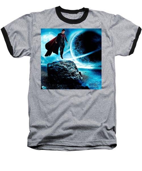 Superman Baseball T-Shirt by Marvin Blaine