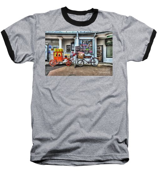 Ye Olde Sweet Shoppe Baseball T-Shirt by Steve Purnell