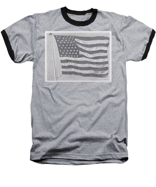 Baseball T-Shirt featuring the pastel 50 Stars 13 Stripes by Wil Golden