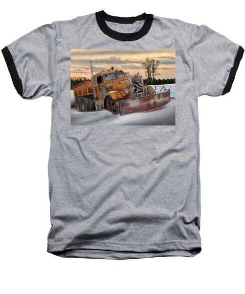 '55 Pete Snowplow Baseball T-Shirt by Stuart Swartz