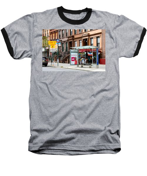 5th Ave And West 132nd Street Baseball T-Shirt by Terry Wallace