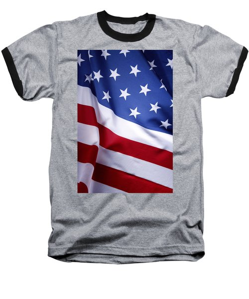 American Flag 50 Baseball T-Shirt