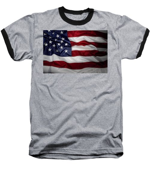 American Flag 52 Baseball T-Shirt