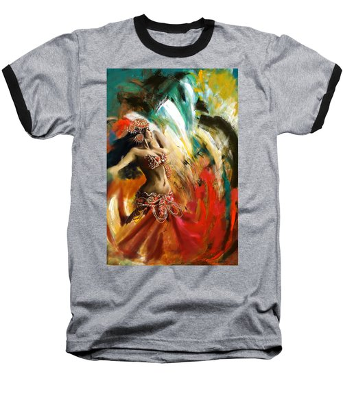 Abstract Belly Dancer 19 Baseball T-Shirt
