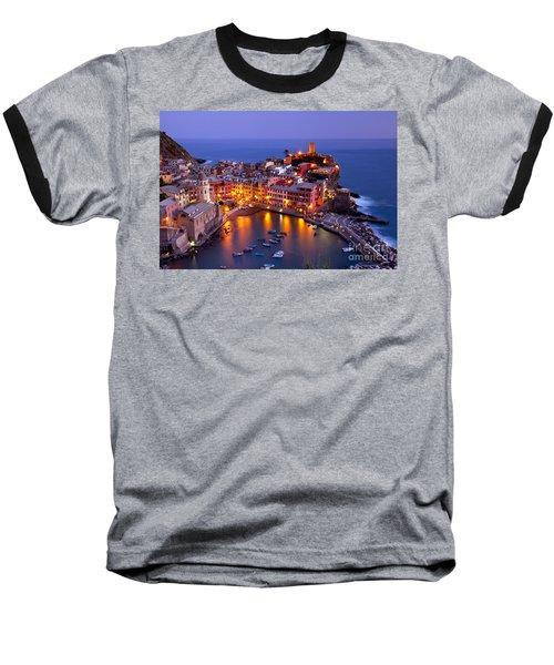 Cinque Terre Baseball T-Shirt by Brian Jannsen