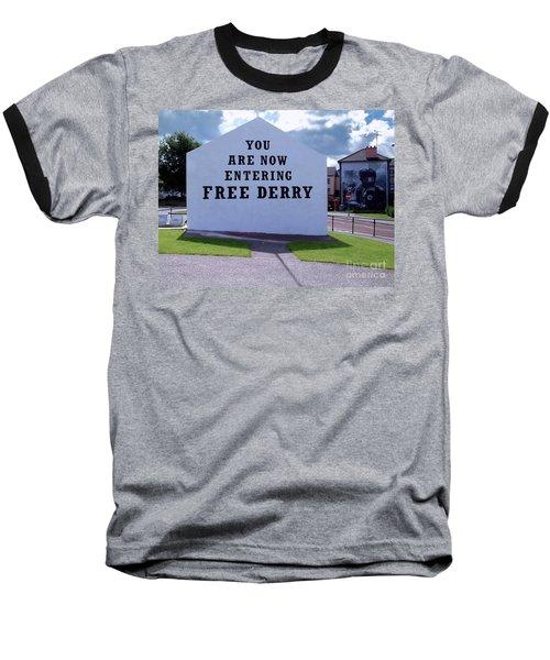 Free Derry Corner Baseball T-Shirt by Nina Ficur Feenan