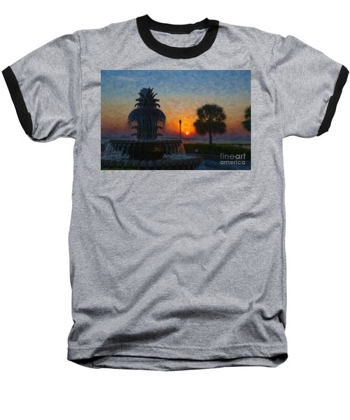 Pineapple Fountain At Dawn Baseball T-Shirt