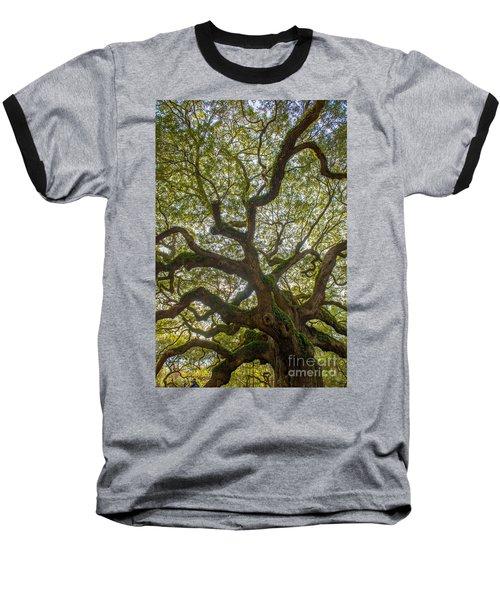 Island Angel Oak Tree Baseball T-Shirt