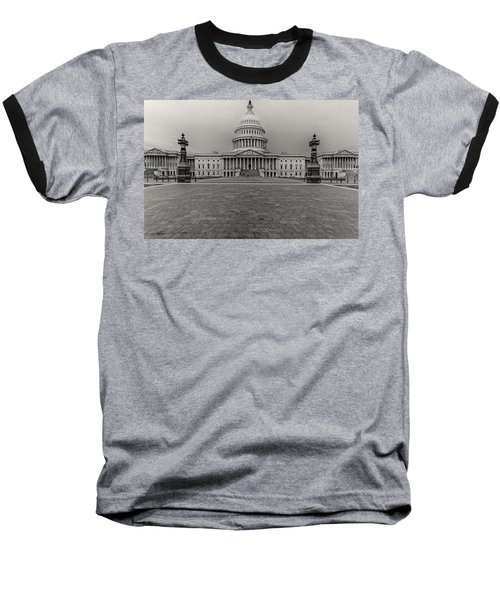 Baseball T-Shirt featuring the photograph Capitol Building by Peter Lakomy
