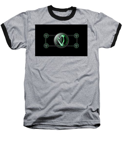 Celtic Harp Baseball T-Shirt