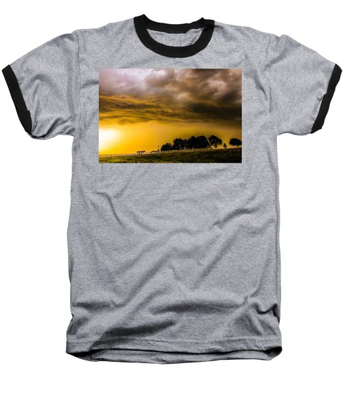 Late Afternoon Nebraska Thunderstorms Baseball T-Shirt