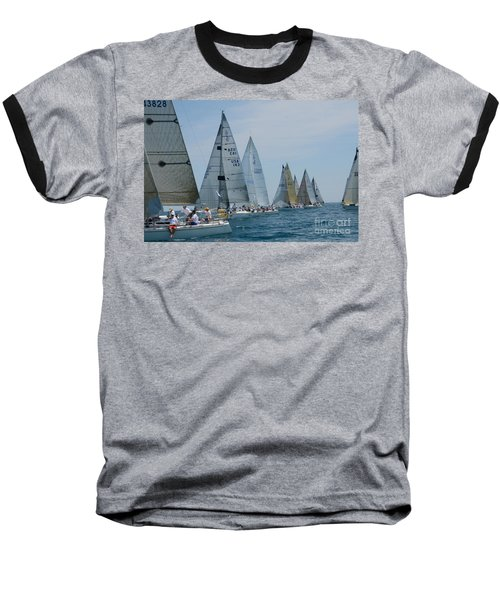 Sailboat Race Baseball T-Shirt