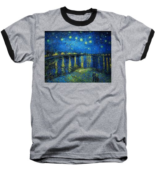 Starry Night Over The Rhone Baseball T-Shirt by Vincent van Gogh