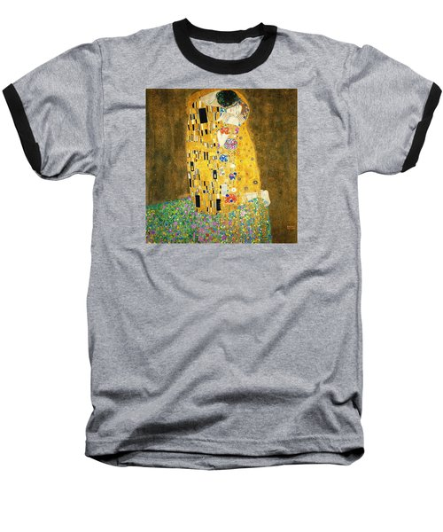 The Kiss Baseball T-Shirt by Gustav Klimt