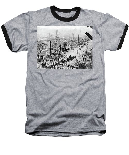 Baseball T-Shirt featuring the photograph Tokyo Earthquake, 1923 by Granger