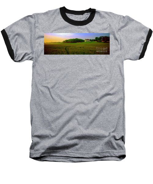 Conley Rd Spring Pasture Oaks And Barn  Baseball T-Shirt