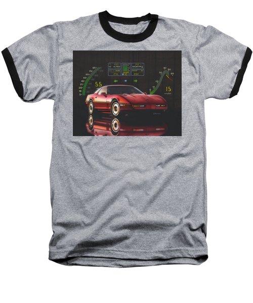 84 Corvette Baseball T-Shirt