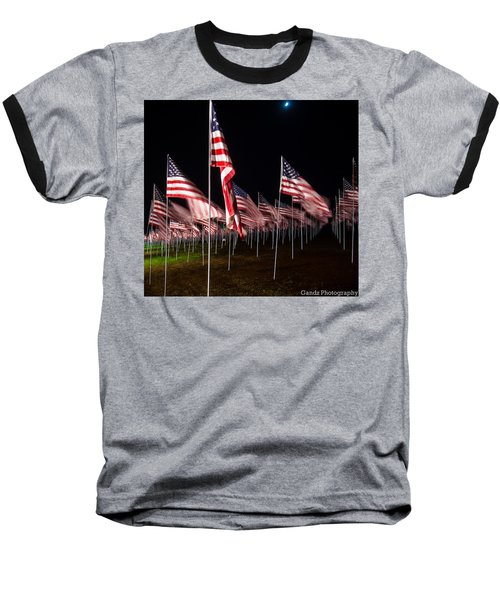 9-11 Flags Baseball T-Shirt