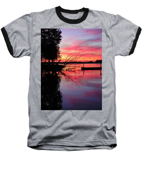 Sunset 9 Baseball T-Shirt