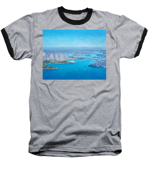 Sydney Harbour And The Opera House Aerial View  Baseball T-Shirt