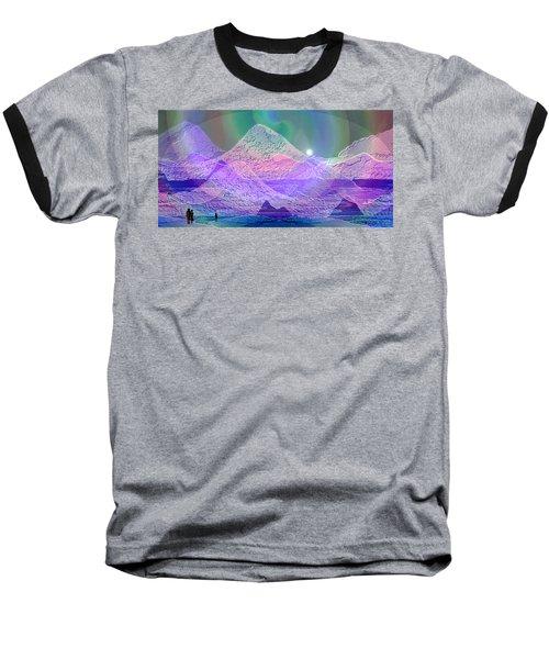 939 - Magic Mood  Mountain World Baseball T-Shirt by Irmgard Schoendorf Welch