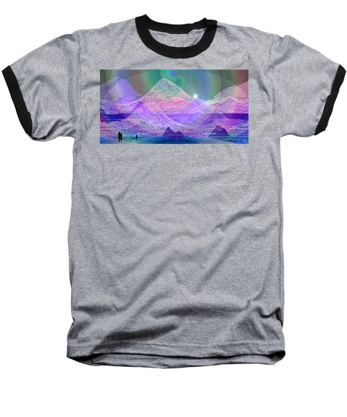 939 - Magic Mood  Mountain World Baseball T-Shirt