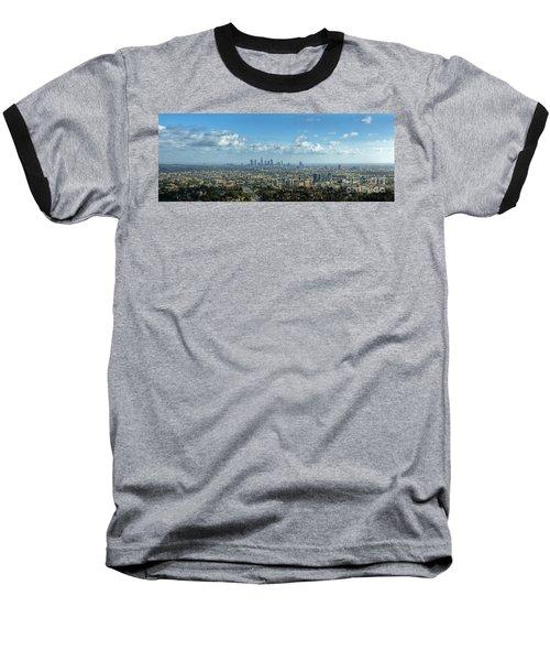 A 10 Day In Los Angeles Baseball T-Shirt by David Zanzinger