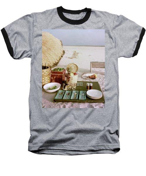 A Beach Picnic Baseball T-Shirt