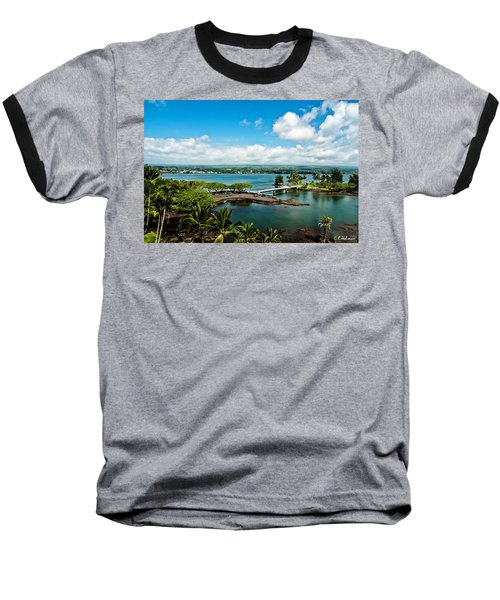 A Beautiful Day Over Hilo Bay Baseball T-Shirt by Christopher Holmes