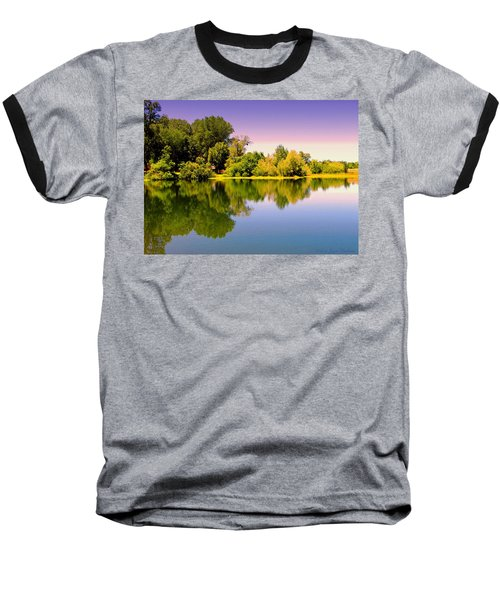 A Beautiful Day Reflected Baseball T-Shirt by Joyce Dickens