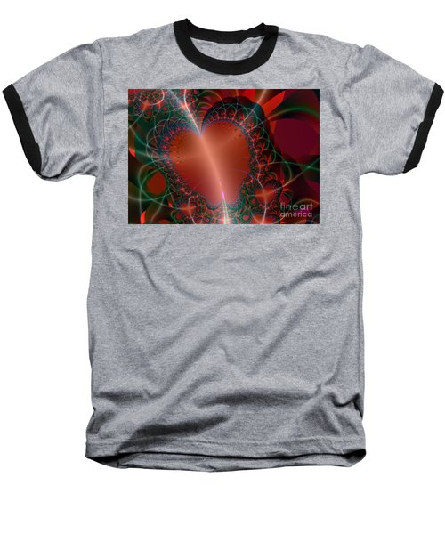 Baseball T-Shirt featuring the digital art A Big Heart by Ester  Rogers