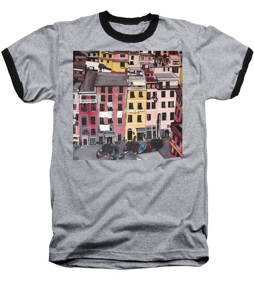 A Bird's Eye View Of Cinque Terre Baseball T-Shirt