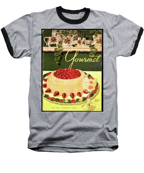 A Blancmange Ring With Strawberries Baseball T-Shirt