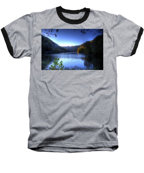 A Blue Lake In The Woods Baseball T-Shirt