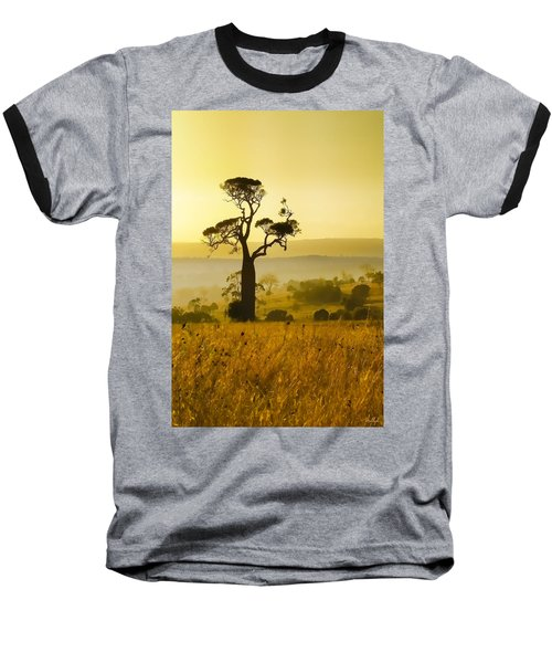 A Boab Sunrise Baseball T-Shirt by Holly Kempe