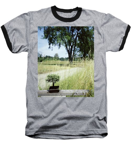 A Bonsai Tree In A Hayfield Baseball T-Shirt