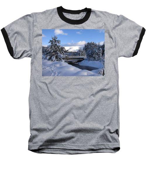A Bridge In The Snow Baseball T-Shirt
