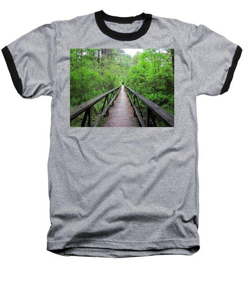 A Bridge To Somewhere Baseball T-Shirt by MTBobbins Photography