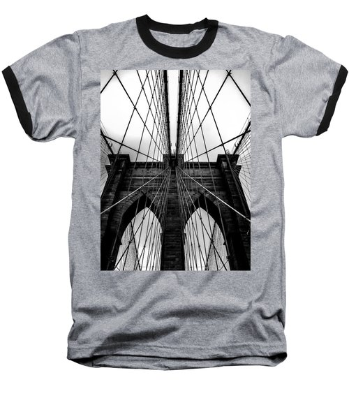 A Brooklyn Perspective Baseball T-Shirt by Az Jackson