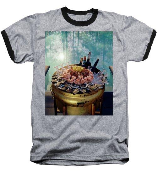 A Bucket Of Shrimp Baseball T-Shirt